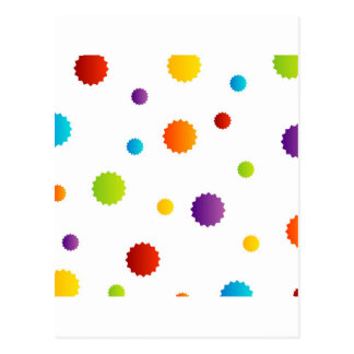 Background with colorful stars postcard