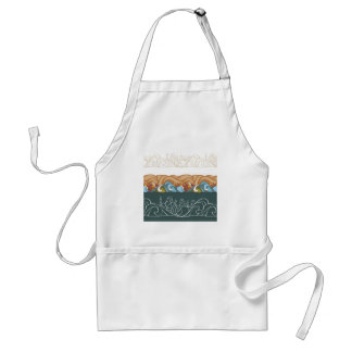 background with fairytale characters adult apron
