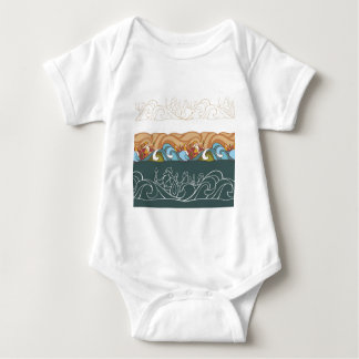 background with fairytale characters baby bodysuit