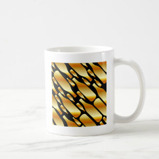 Background with gold bottles coffee mug