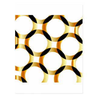 Background with golden circles postcard