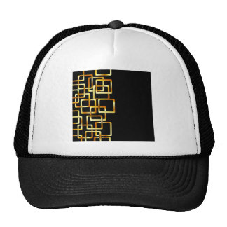 Background with golden squares trucker hat