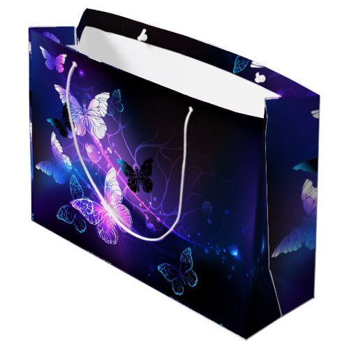 Background with Night Butterflies Large Gift Bag