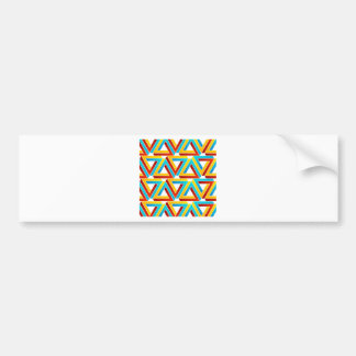 Background with Pen rose triangles Bumper Sticker