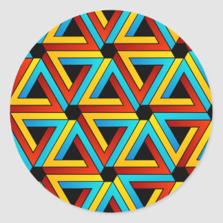 Background with Pen rose triangles Classic Round Sticker