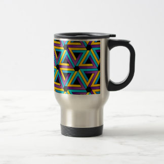 Background with Pen rose triangles Coffee Mug