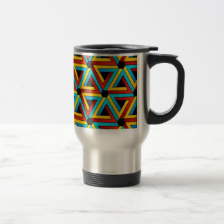 Background with Pen rose triangles Mugs
