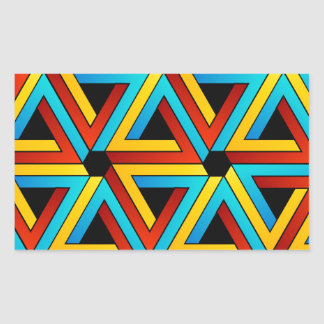 Background with Pen rose triangles Rectangular Sticker
