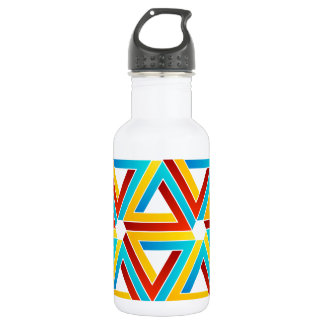 Background with Pen rose triangles Stainless Steel Water Bottle