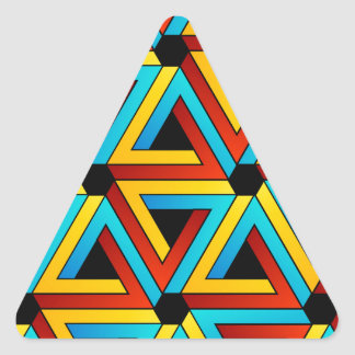 Background with Pen rose triangles Triangle Sticker