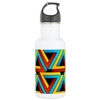 Background with Pen rose triangles Water Bottle