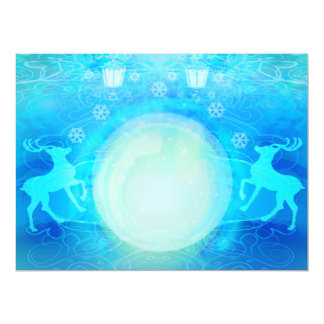 background with reindeers Invitation