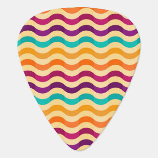 Background with stripes in retro 2 guitar pick