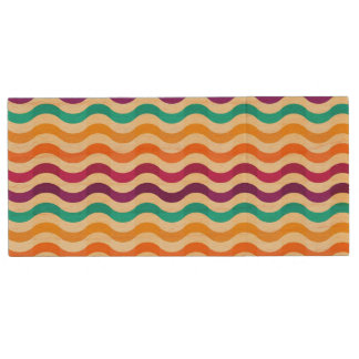 Background with stripes in retro 2 wood USB 2.0 flash drive
