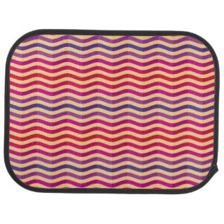 Background with stripes in retro 3 car floor mat