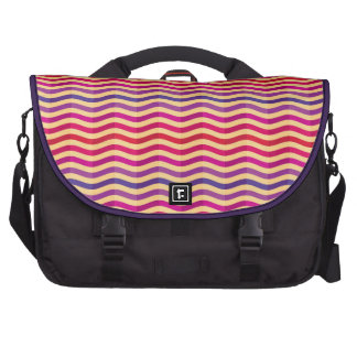Background with stripes in retro 3 bag for laptop