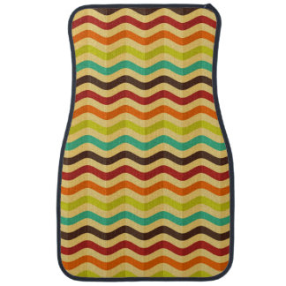 Background with stripes in retro 4 car mat