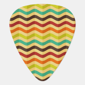 Background with stripes in retro 4 guitar pick