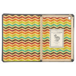 Background with stripes in retro 4 iPad air case