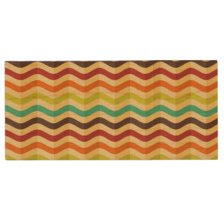 Background with stripes in retro 4 wood USB 2.0 flash drive