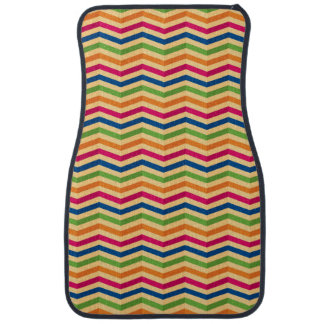 Background with stripes in retro car floor mat