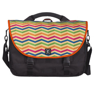 Background with stripes in retro computer bag