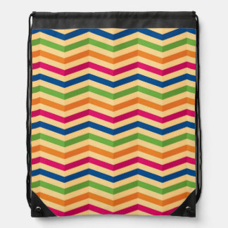 Background with stripes in retro drawstring bag