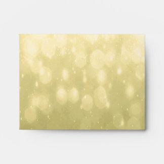 Background - Yellow Bokeh Glitter Lights Envelope