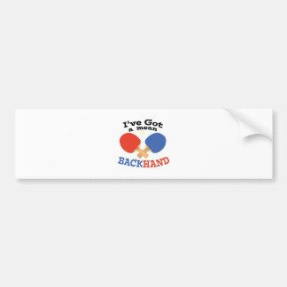 Backhand Car Bumper Sticker