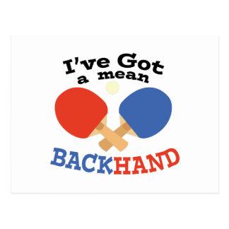 Backhand Postcard