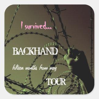 Backhand Tour Survival Square Sticker