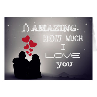 Backhanded Compliment I LOVE YOU Greeting Card