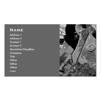 backhoe business cards.