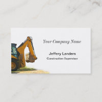 Backhoe Construction Business Card