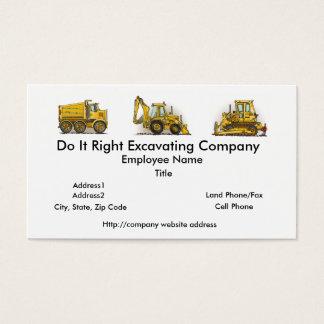 Backhoe Digger Construction Business Cards