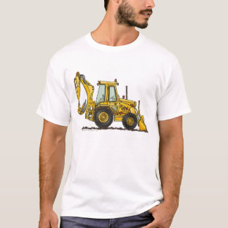Backhoe Digger Loader Construction Apparel T-Shirt