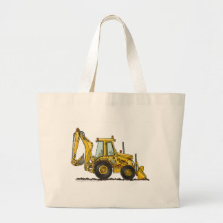 Backhoe Digger Loader Construction Bags/Totes Large Tote Bag
