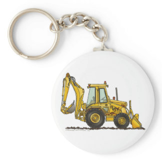 Backhoe Digger Loader Construction Key Chains