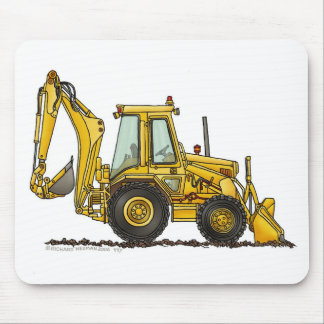 Backhoe Digger Loader Construction Mouse Pad