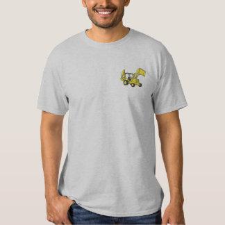 Backhoe Loader Embroidered T-Shirt