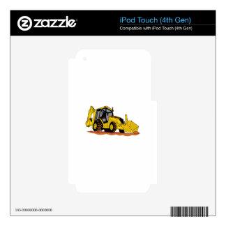 Backhoe Loader Skins For iPod Touch 4G