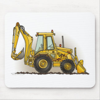 Backhoe Mouse Pad