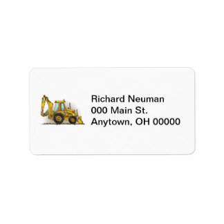 Backhoe Operator Label