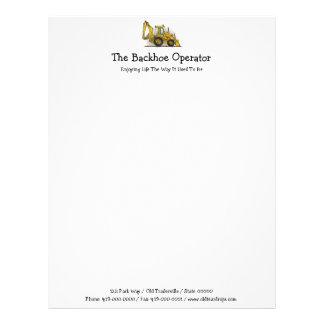 Backhoe Operator Letterhead