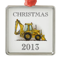 Backhoe Operator Metal Ornament