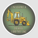 Backhoe Operator Quote Kids Sticker
