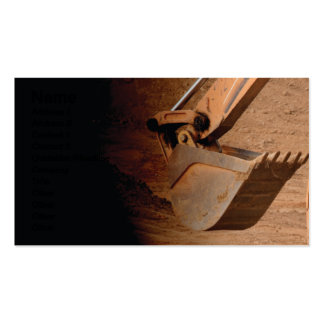 backhoe part of construction equipment business card
