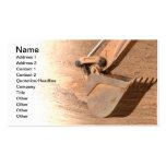 backhoe part of construction equipment business card template
