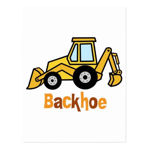 Backhoe Postcard