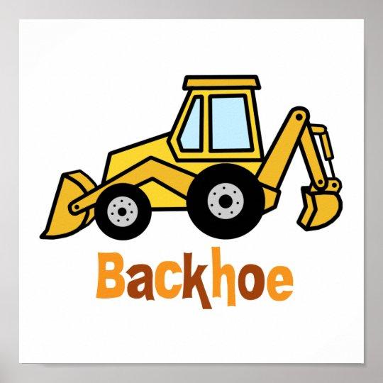 Backhoe Poster